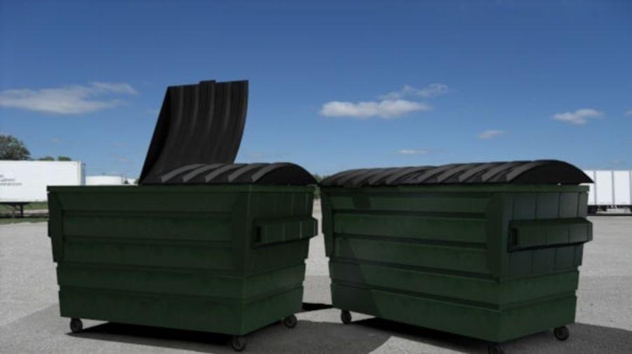 Контейнер для мусора (мусорный контейнер) royalty-free 3d model - Preview no. 8