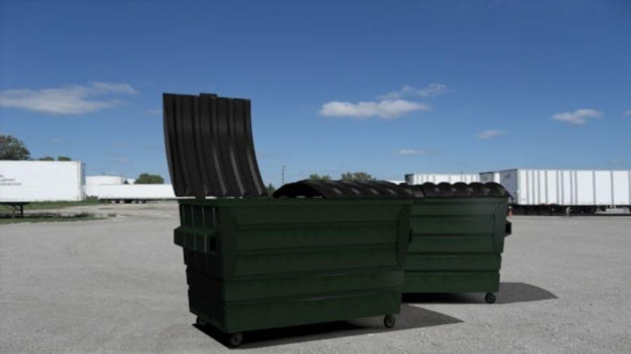 Контейнер для мусора (мусорный контейнер) royalty-free 3d model - Preview no. 1
