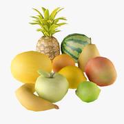 Низкополигональная коллекция фруктов 3d model