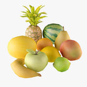 Low Poly fruits Collection 3d model