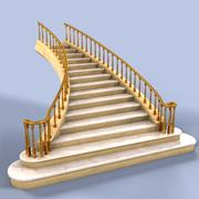 Marble Stairs 3d model