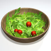芝麻菜沙拉 3d model