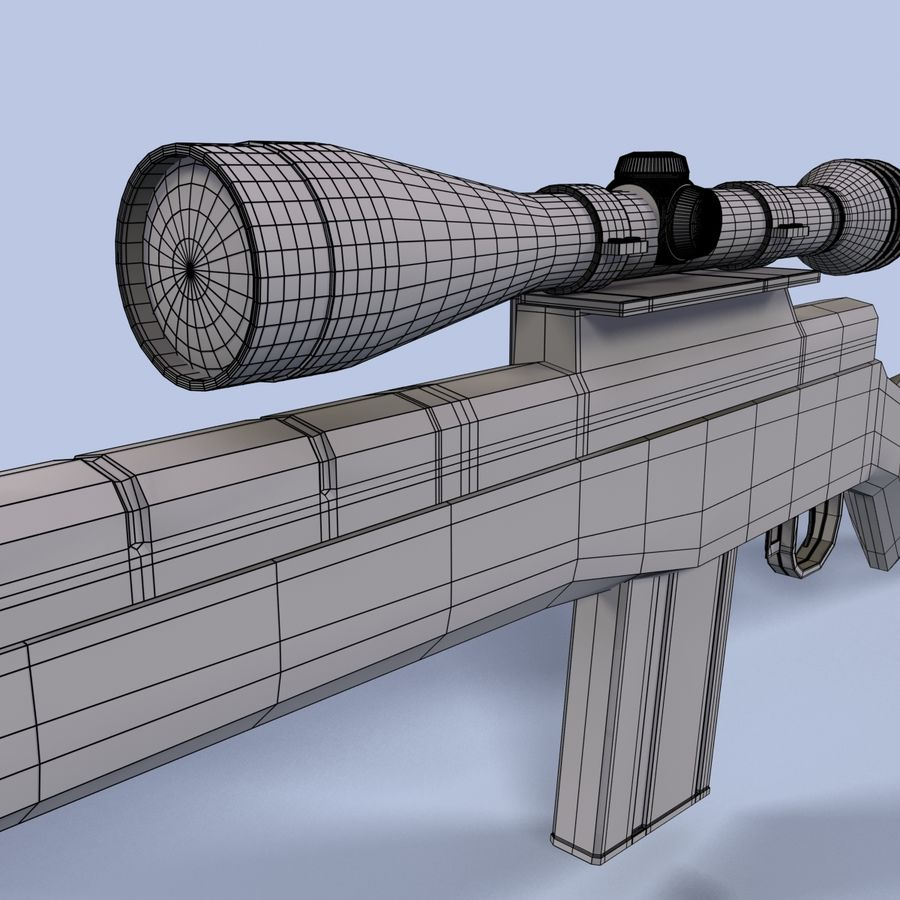Sniper Rifle royalty-free 3d model - Preview no. 17