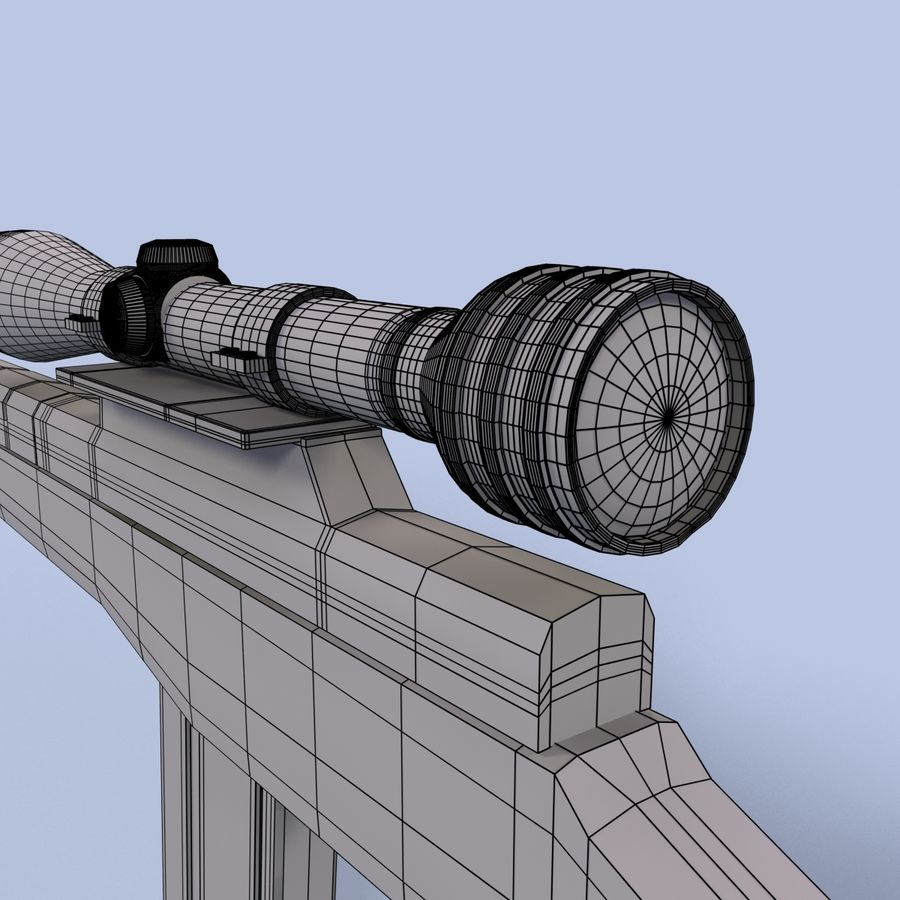 Sniper Rifle royalty-free 3d model - Preview no. 16