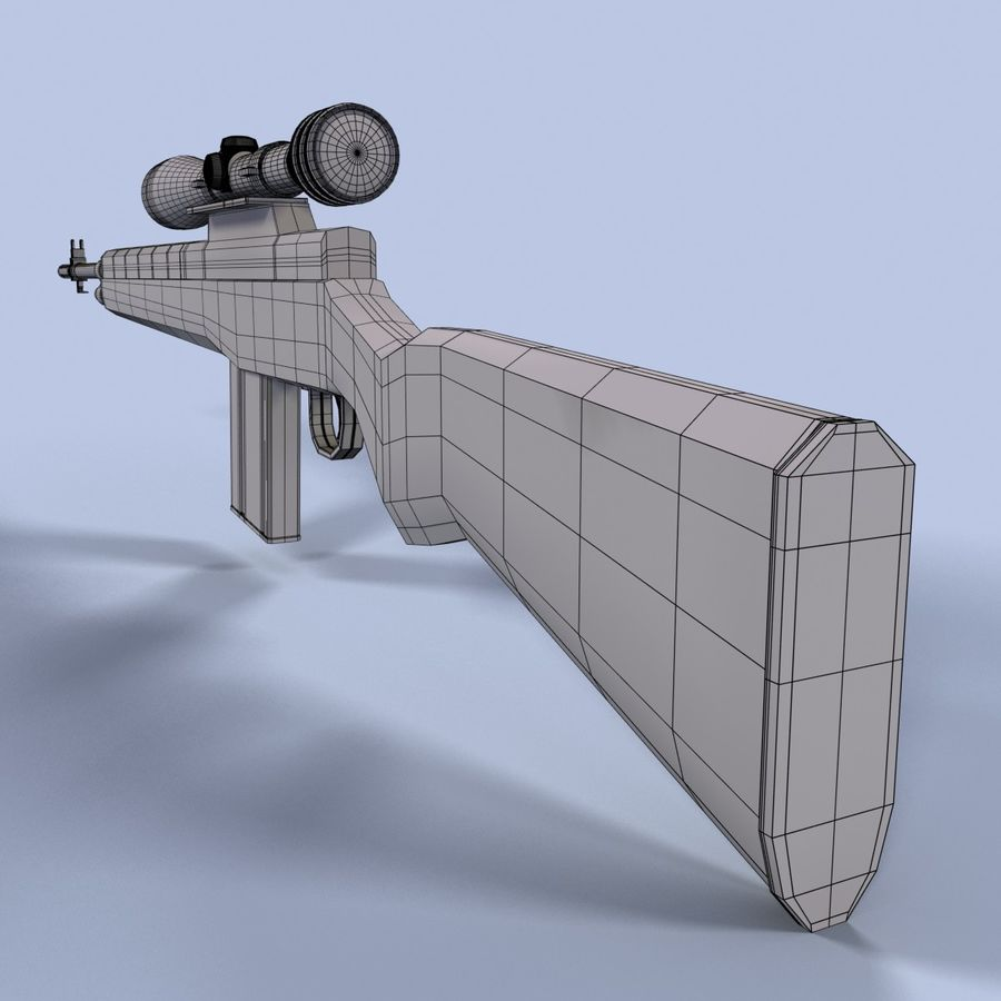 Sniper Rifle royalty-free 3d model - Preview no. 14