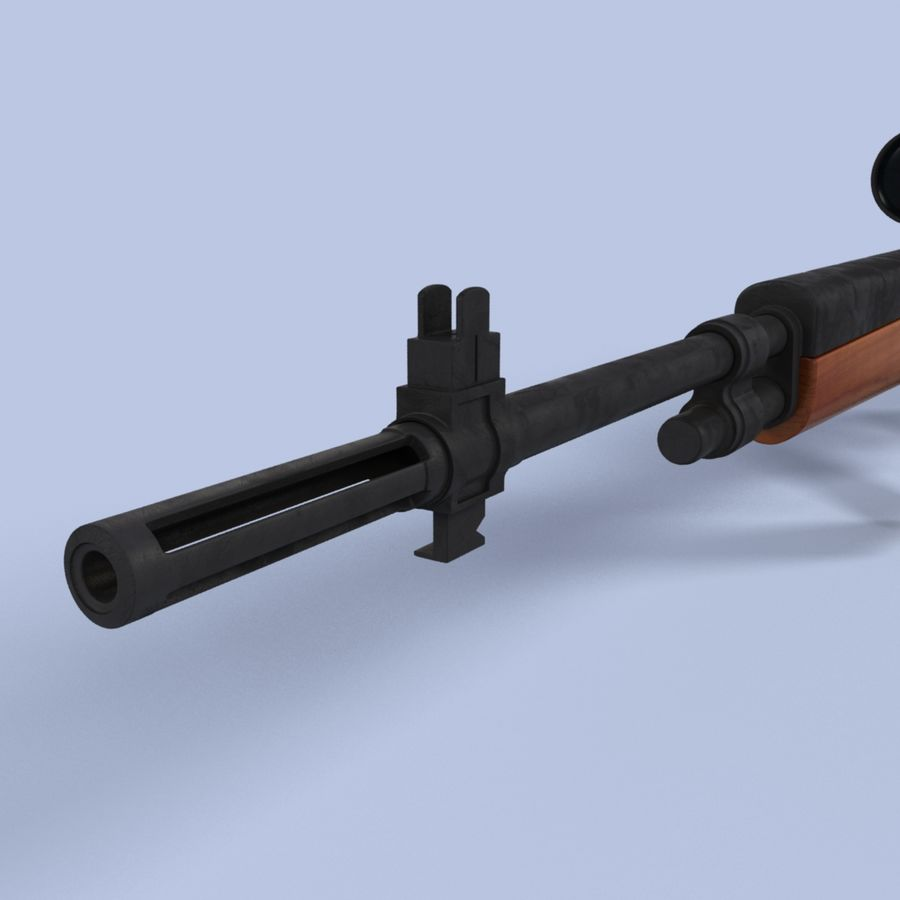 Sniper Rifle royalty-free 3d model - Preview no. 9