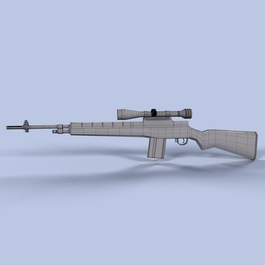 Sniper Rifle royalty-free 3d model - Preview no. 12