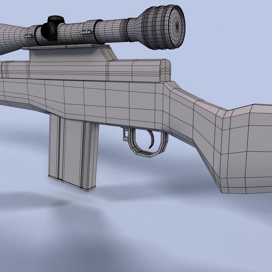 Sniper Rifle royalty-free 3d model - Preview no. 15