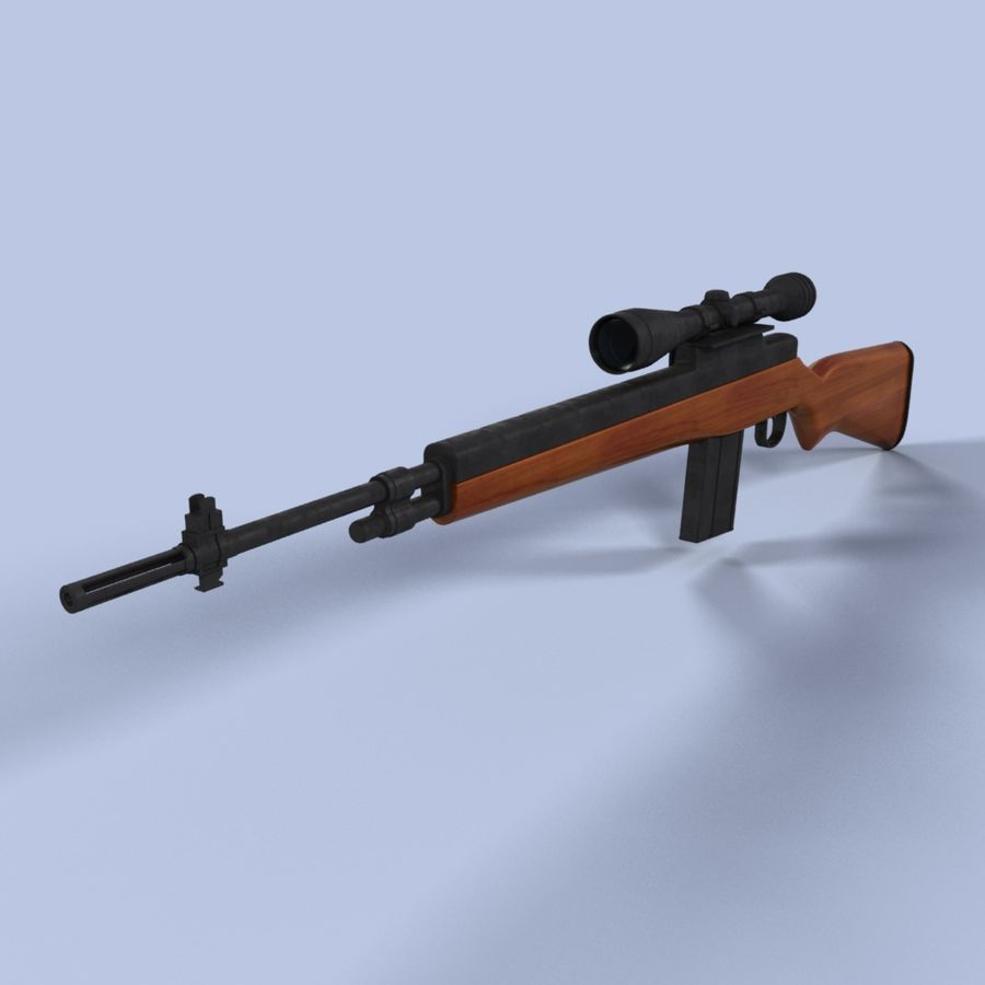 Sniper Rifle royalty-free 3d model - Preview no. 2