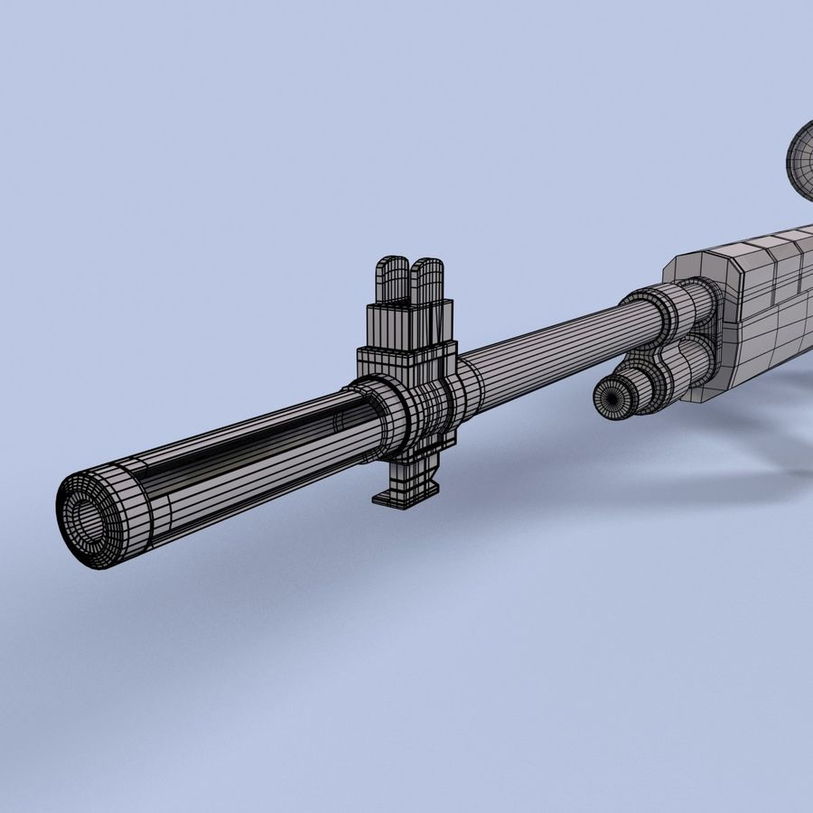 Sniper Rifle royalty-free 3d model - Preview no. 18