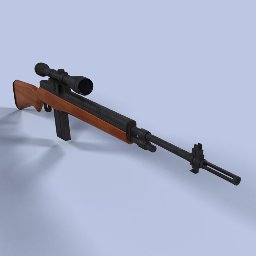 Sniper Rifle royalty-free 3d model - Preview no. 1