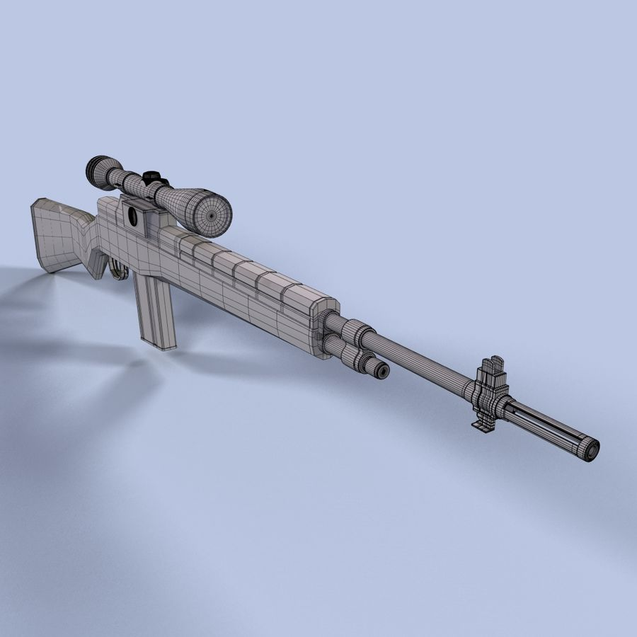 Sniper Rifle royalty-free 3d model - Preview no. 10