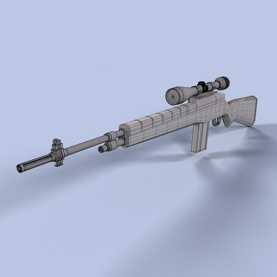 Sniper Rifle royalty-free 3d model - Preview no. 11