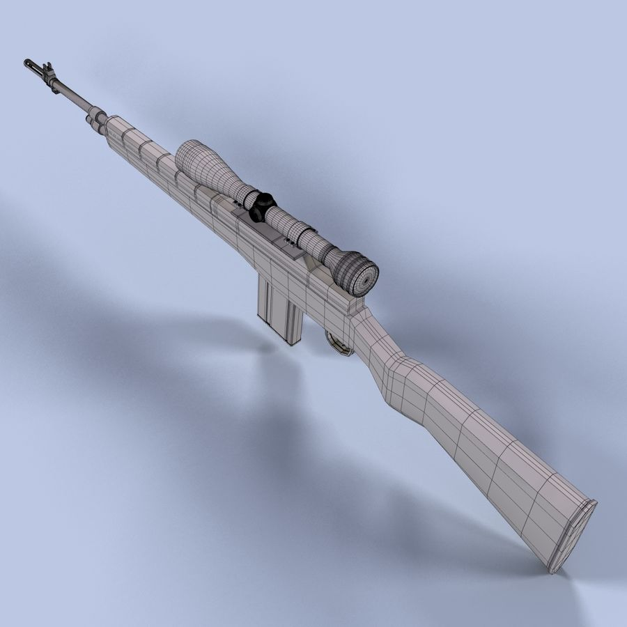 Sniper Rifle royalty-free 3d model - Preview no. 13