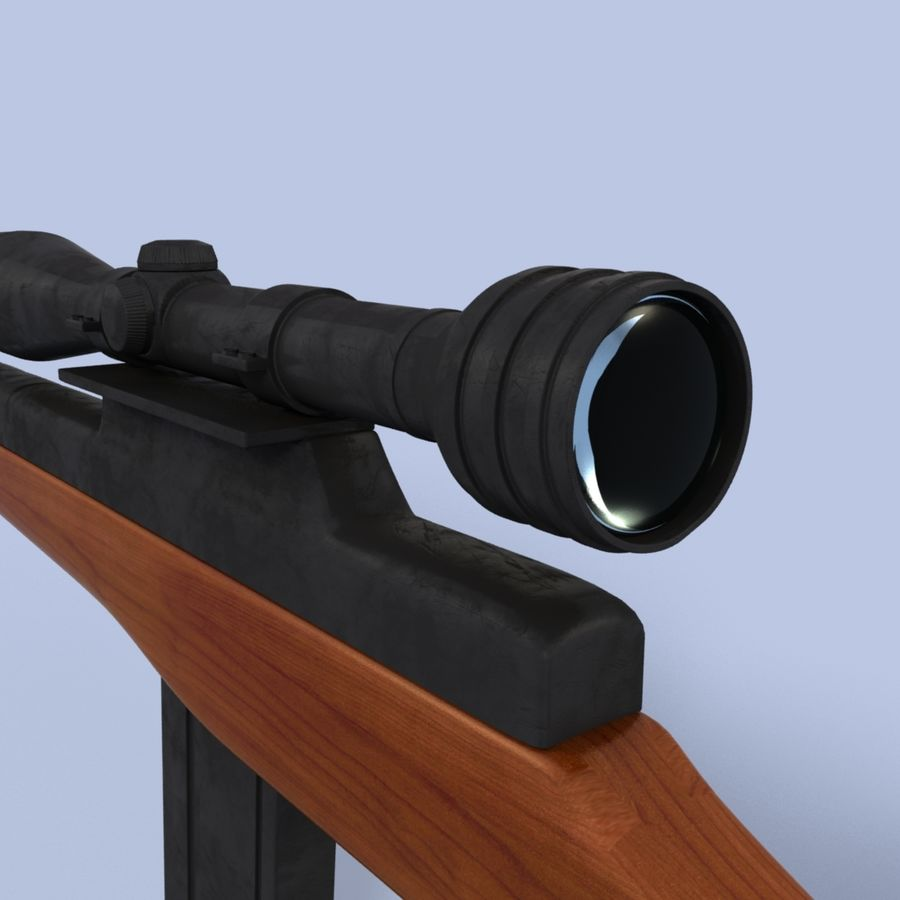 Sniper Rifle royalty-free 3d model - Preview no. 7