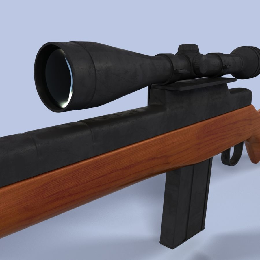 Sniper Rifle royalty-free 3d model - Preview no. 8