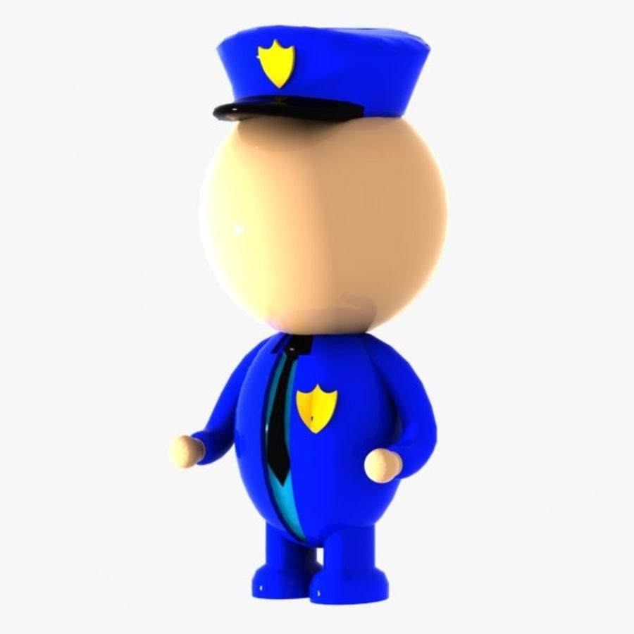 Polis karaktär royalty-free 3d model - Preview no. 3