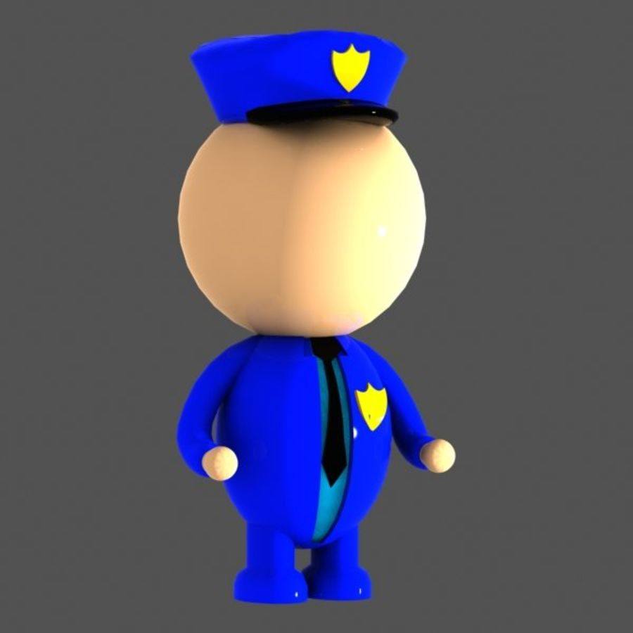 Polis karaktär royalty-free 3d model - Preview no. 2