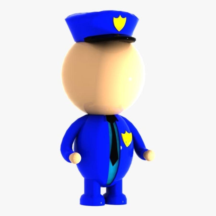 Polis karaktär royalty-free 3d model - Preview no. 1