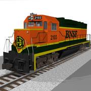 BNSF列車エンジン:EMD GP38:C4Dモデル 3d model