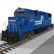 Conrail Train Engine: EMD GP38: C4D Model 3d model