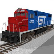GT Train Engine: EMD GP38: C4D Model 3d model