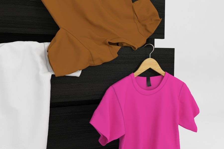 T-shirts royalty-free 3d model - Preview no. 3