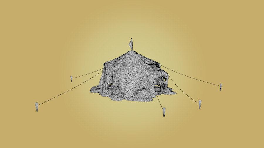 Tente royalty-free 3d model - Preview no. 4