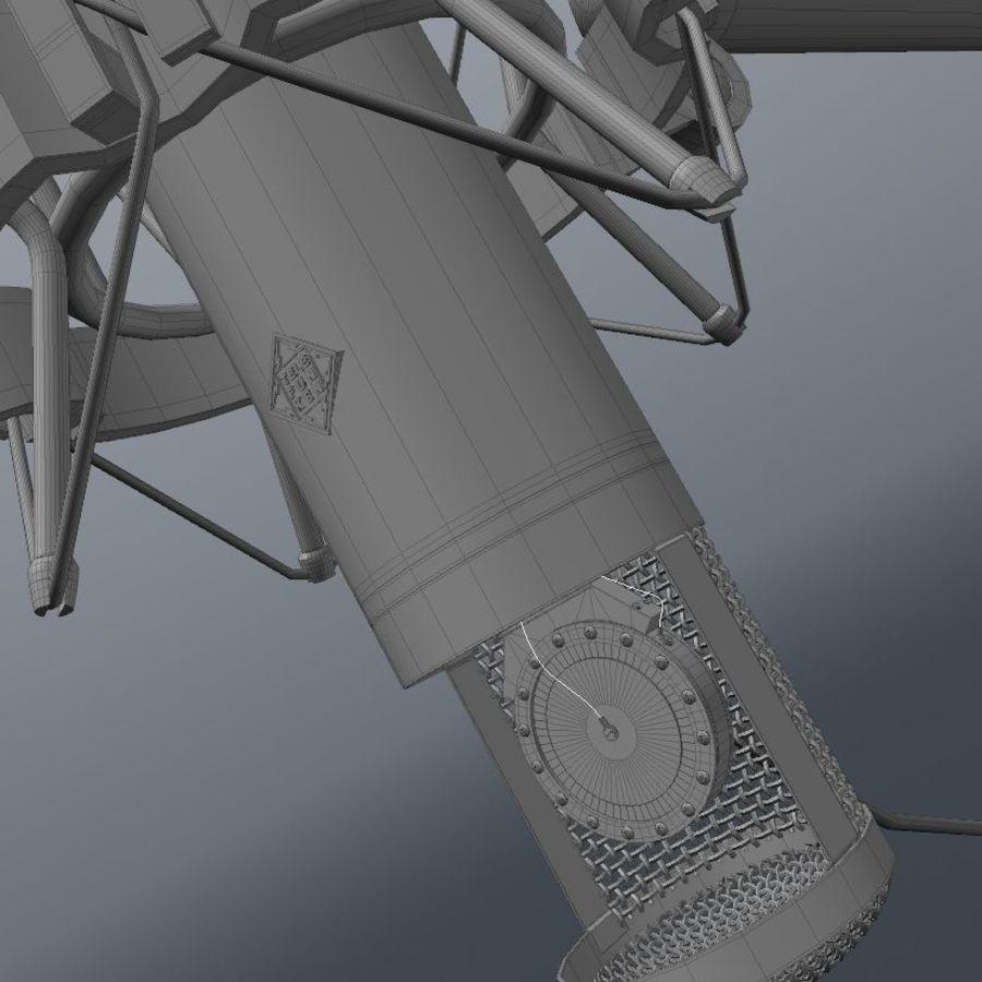 microfono royalty-free 3d model - Preview no. 6