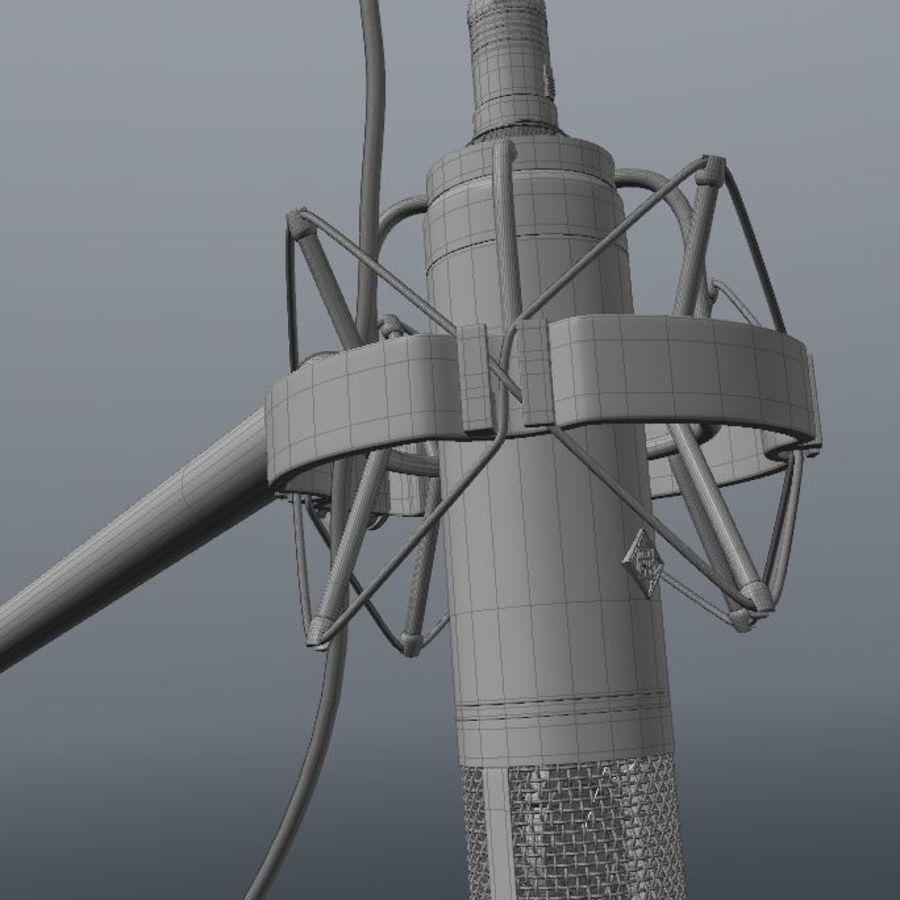 microfono royalty-free 3d model - Preview no. 5