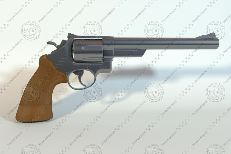44 magnum royalty-free modelo 3d - Preview no. 1