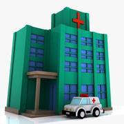 Cartoon Krankenhaus 3d model
