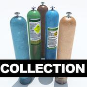 Kolekcja butli z cieczą / gazem 3d model