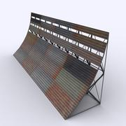 Low Poly Airport Blast Fence 3d model