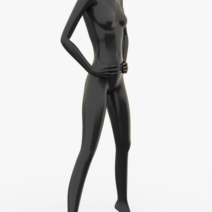 Manichino donna C royalty-free 3d model - Preview no. 2