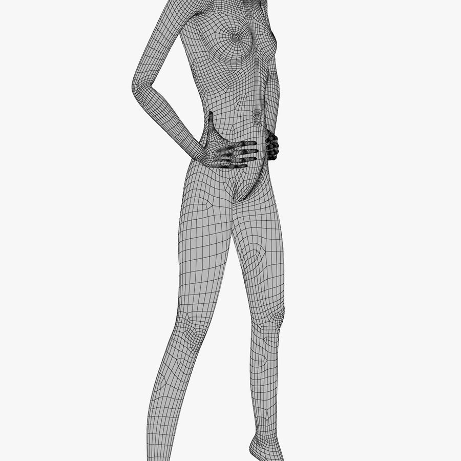 Manichino donna C royalty-free 3d model - Preview no. 5