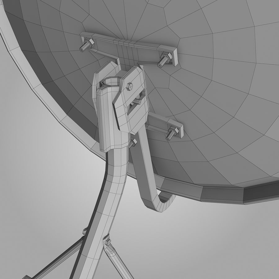 Antena satelital royalty-free modelo 3d - Preview no. 11