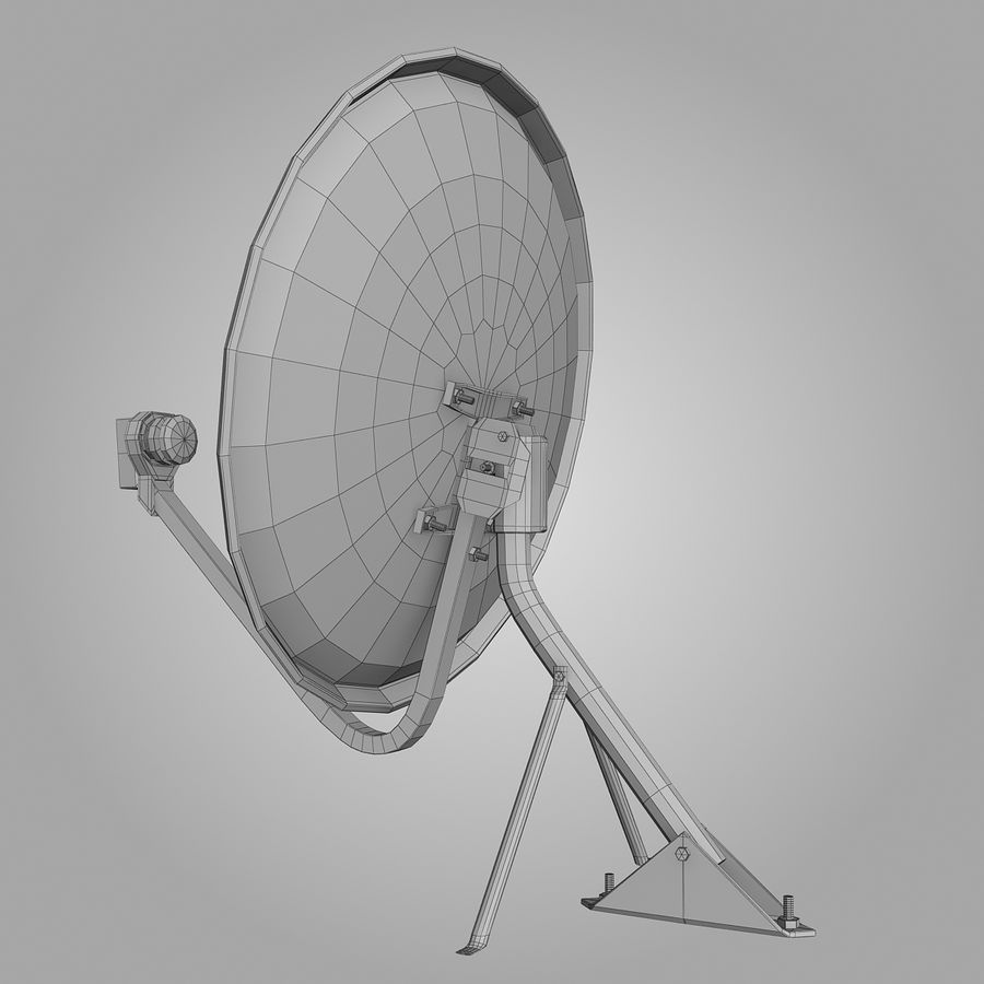 Antena satelital royalty-free modelo 3d - Preview no. 9