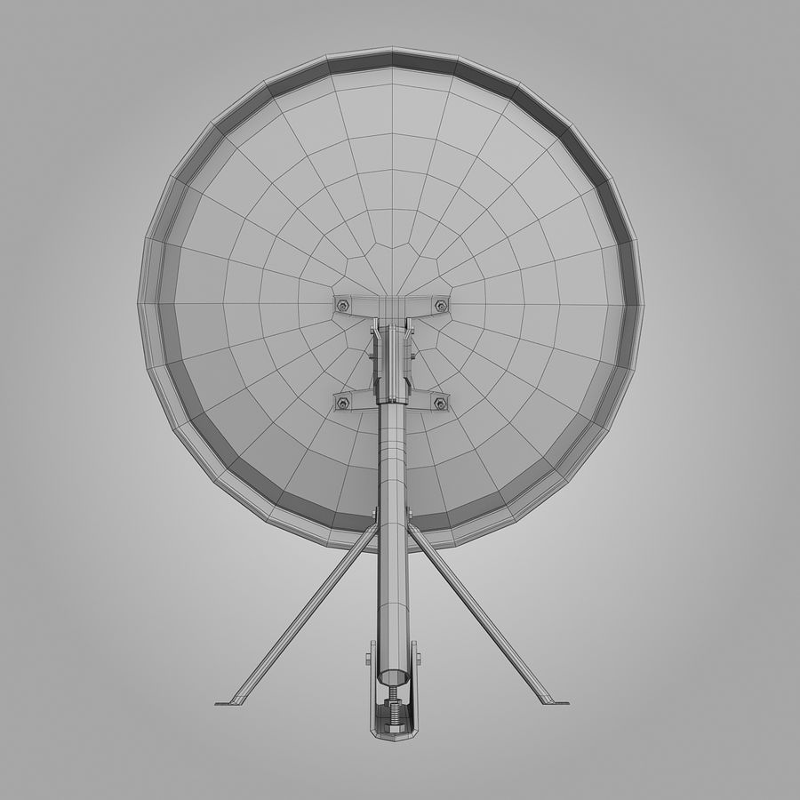 Antena satelital royalty-free modelo 3d - Preview no. 10
