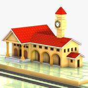 漫画駅 3d model