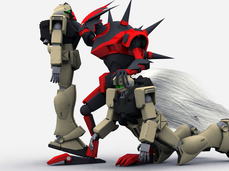 LBX Hunter royalty-free 3d model - Preview no. 6