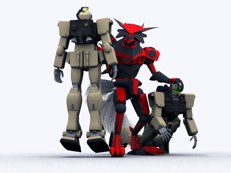 LBX Hunter royalty-free 3d model - Preview no. 5
