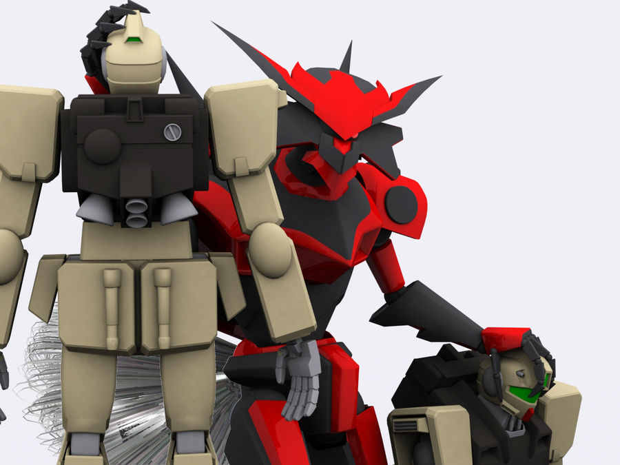 LBX Hunter royalty-free 3d model - Preview no. 4
