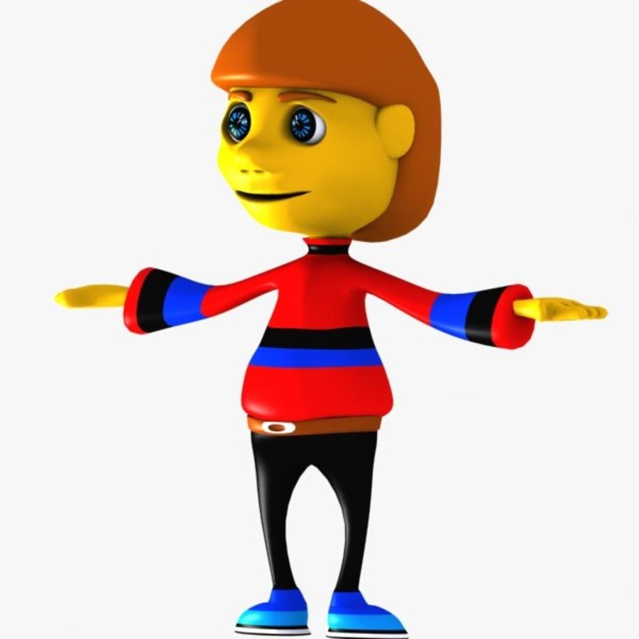 Cartoon Boy Character royalty-free 3d model - Preview no. 4