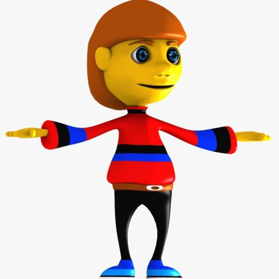 Cartoon Boy Character royalty-free 3d model - Preview no. 3