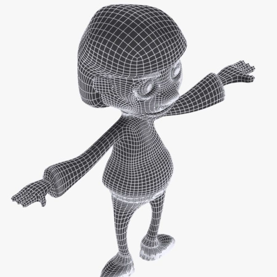 Cartoon Boy Character royalty-free 3d model - Preview no. 10