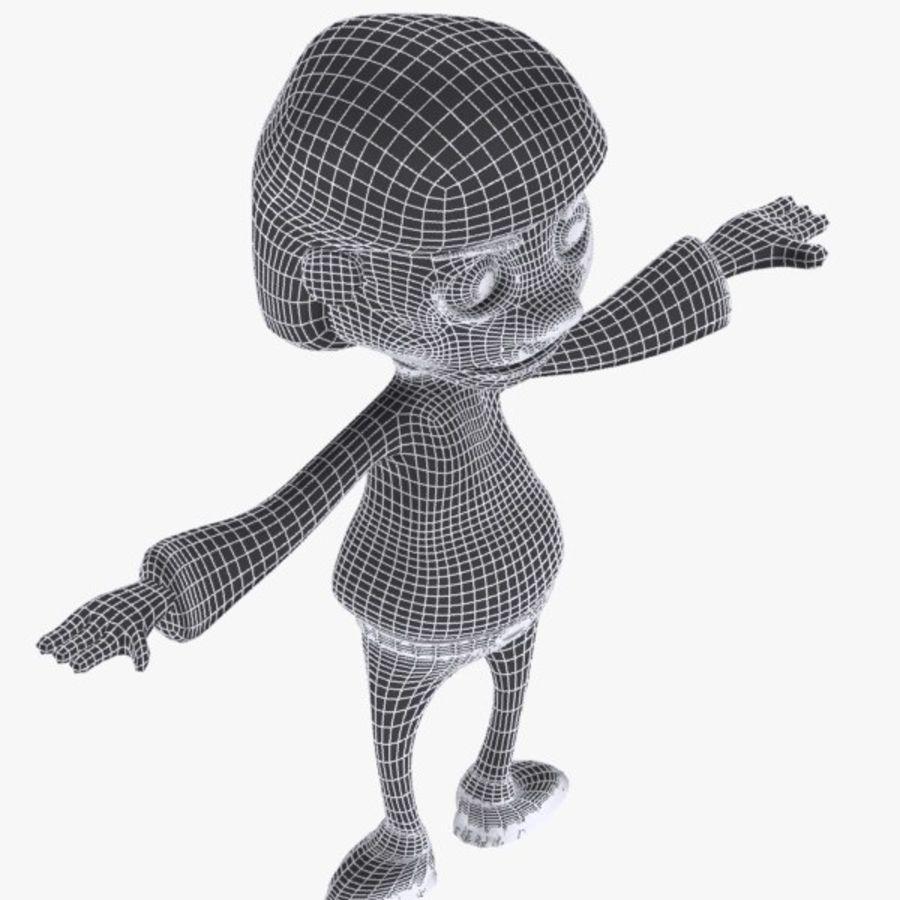 Tecknad pojke karaktär royalty-free 3d model - Preview no. 10