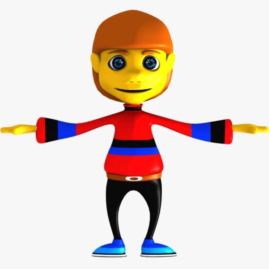 Tecknad pojke karaktär royalty-free 3d model - Preview no. 1