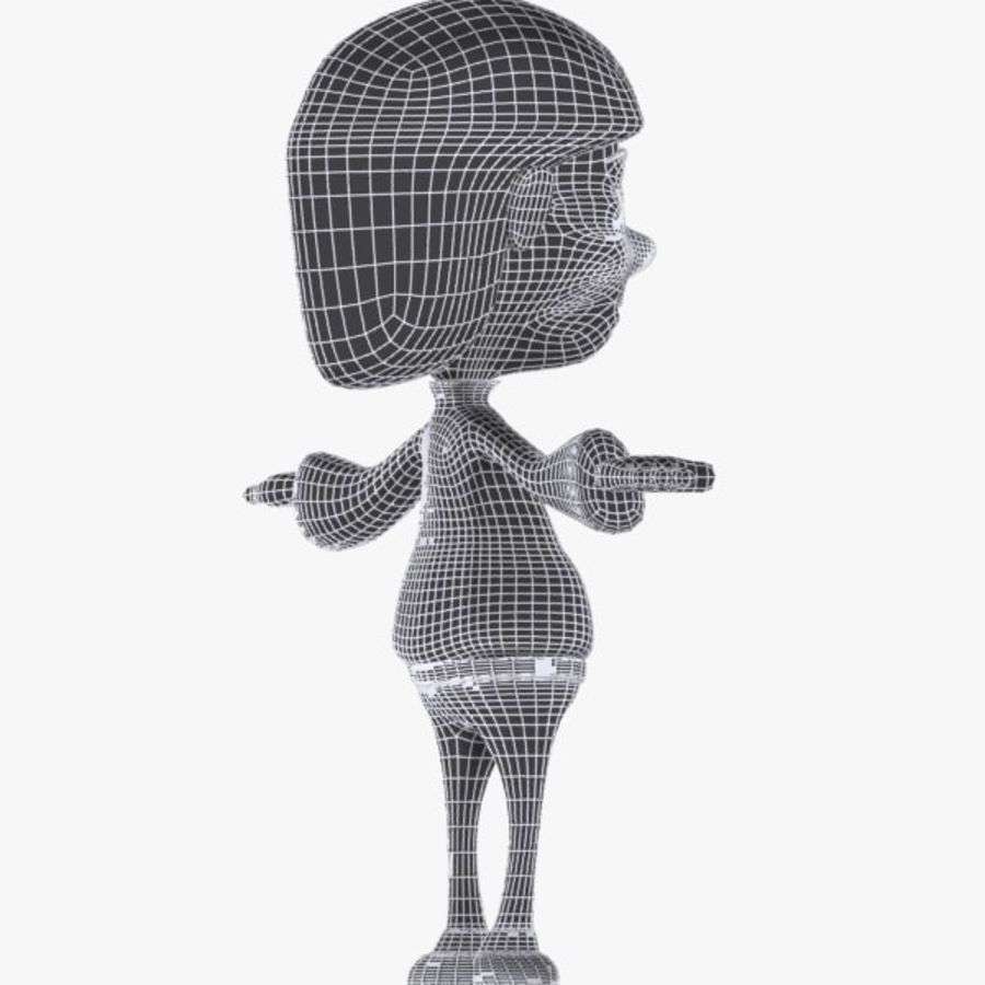 Tecknad pojke karaktär royalty-free 3d model - Preview no. 11