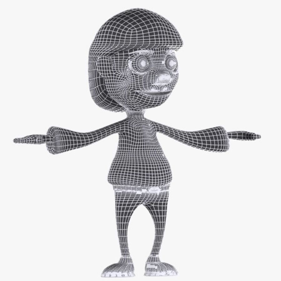 Cartoon Boy Character royalty-free 3d model - Preview no. 9